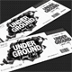 Underground Groove Party Event Ticket - GraphicRiver Item for Sale