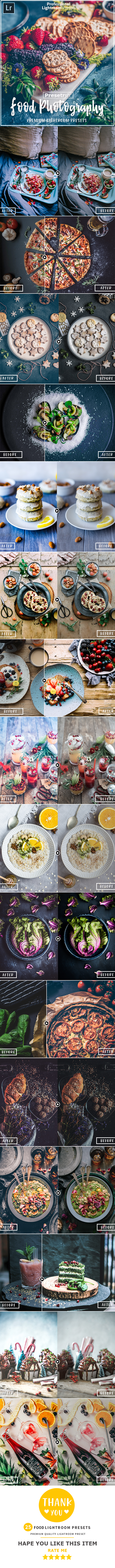 25 Food Collection Lightroom Presets - Lightroom Presets Add-ons
