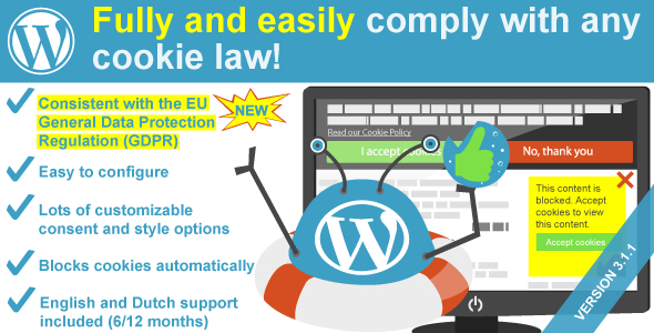 WeePie Cookie Allow - Easy & Complete Cookie Consent Plugin - CodeCanyon Item for Sale