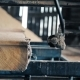 In the Spring on a Sawmill There Is a Production of a Board - VideoHive Item for Sale