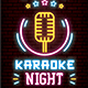 Karaoke Night Neon Flyer - GraphicRiver Item for Sale