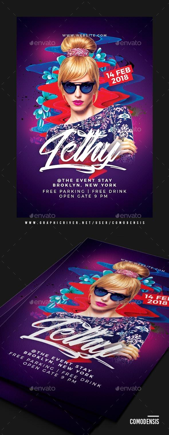 Dj Club Party Flyer - Print Templates