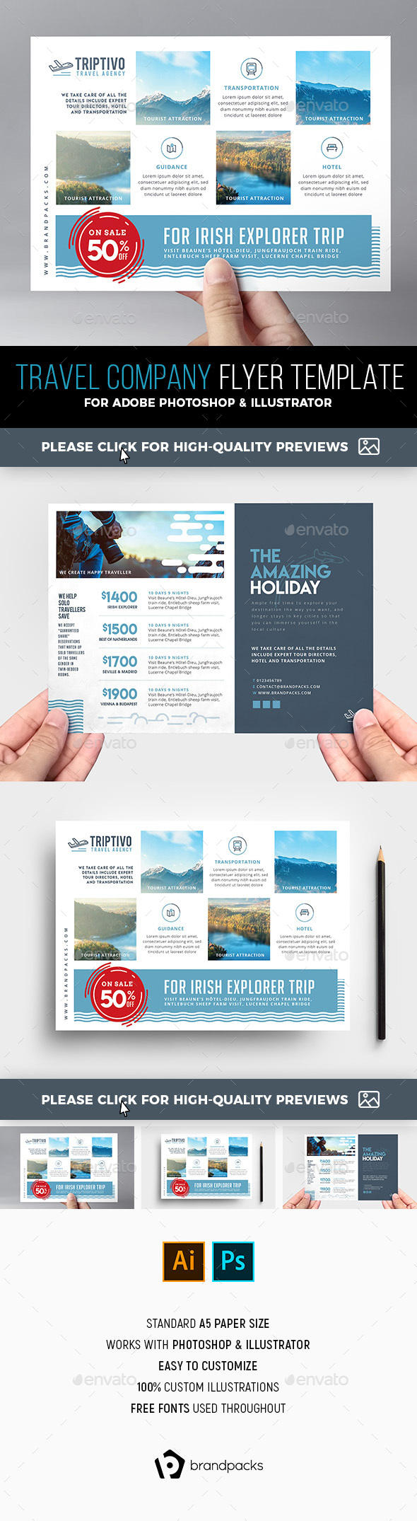 Travel Company Flyer Template - Corporate Flyers