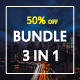 3 in 1 Bundle Modern Keynote Templates - GraphicRiver Item for Sale