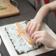 Caucasian Six Year Old Child Learns To Prepare Rolls Hands in the Frame - VideoHive Item for Sale