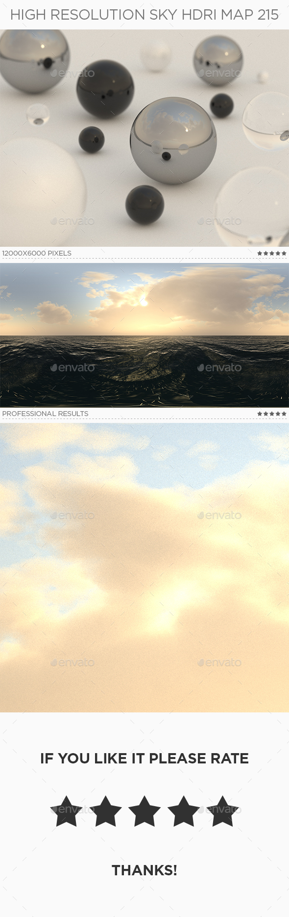 High Resolution Sky HDRi Map 215 - 3DOcean Item for Sale
