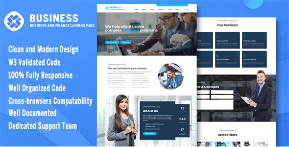 Business - Business and Consulting Onepage Template - Business Corporate