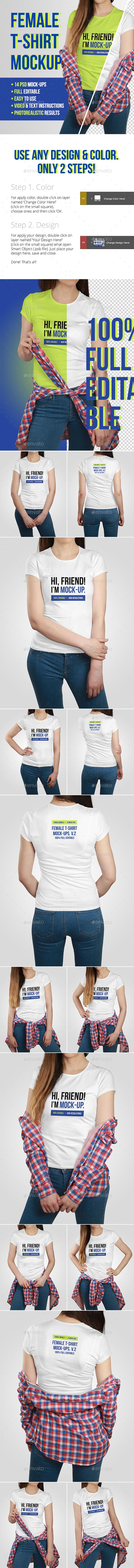 Female T-Shirt Mockups Vol.2 - T-shirts Apparel