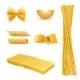 Vector Realistic Set of Italian Pasta