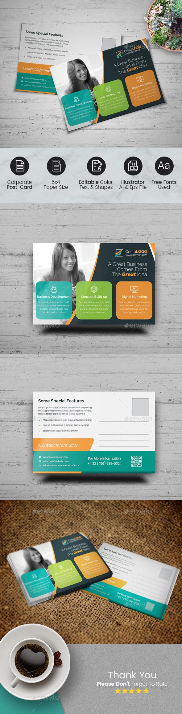 Clean Postcard - Cards & Invites Print Templates