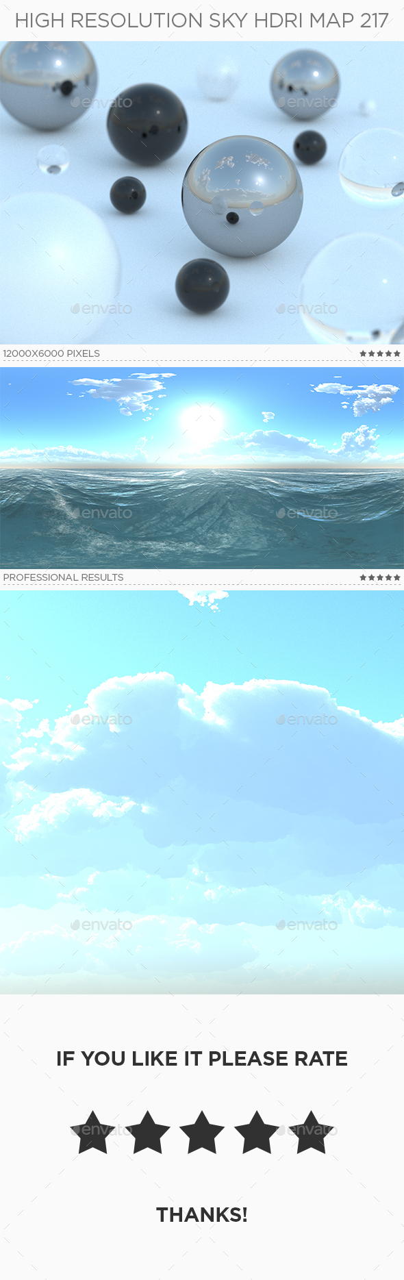 High Resolution Sky HDRi Map 217 - 3DOcean Item for Sale