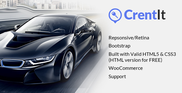 CrentIt - Car Rental WordPress Theme - Business Corporate
