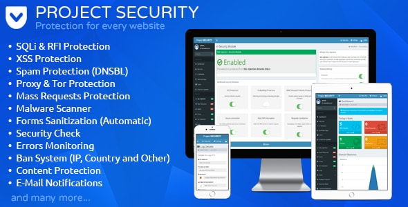 Project SECURITY – Website Security, Antivirus & Firewall - CodeCanyon Item for Sale