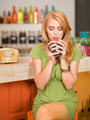 gorgeous girl drinking coffee - PhotoDune Item for Sale