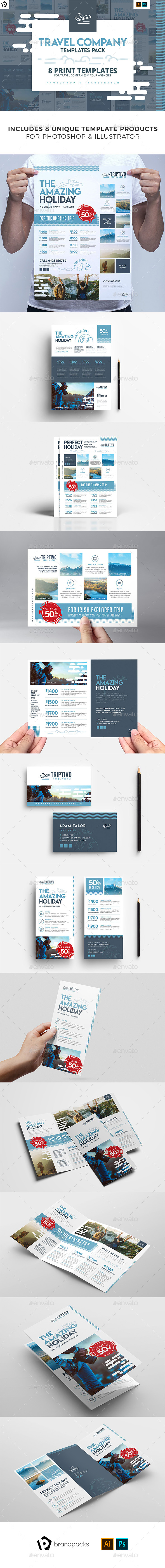 Travel Company Templates Bundle - Corporate Flyers
