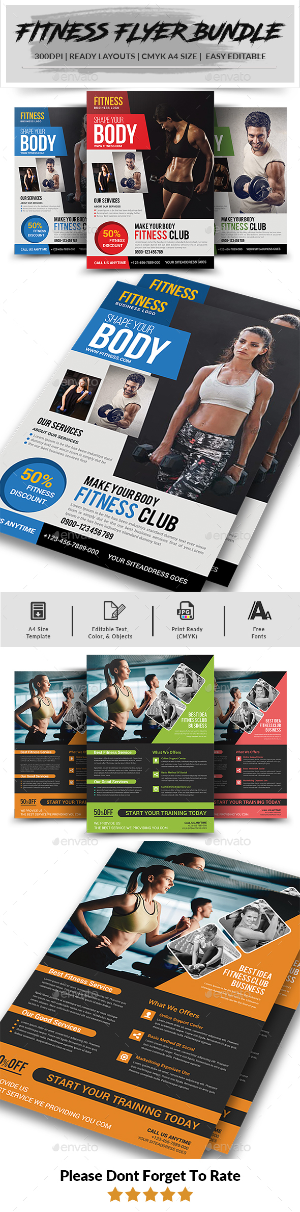 Fitness Flyer Bundle - Corporate Flyers