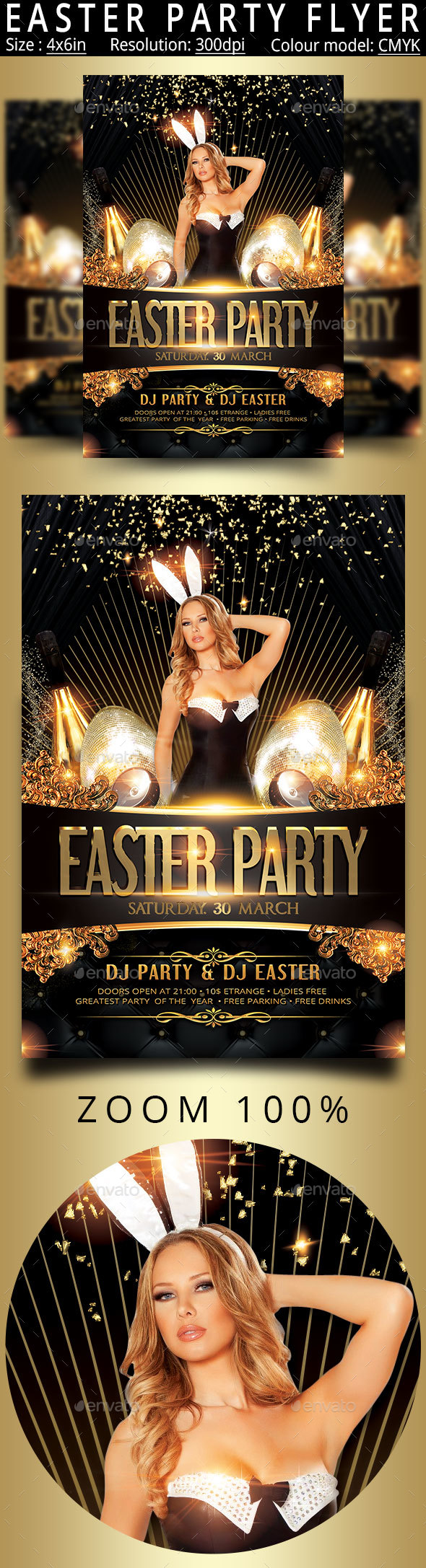 Happy Easter Party Flyer - Events Flyers