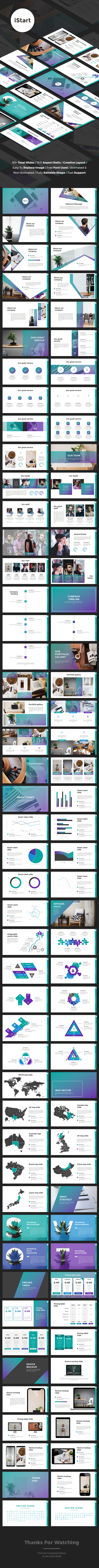iStart - StartUp Google Slides Template - Google Slides Presentation Templates