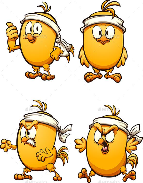 Bandana Chicken - Animals Characters