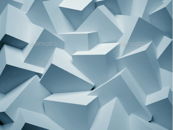 3D Abstract Background. Illustration of Geometric - Abstract 3D Renders