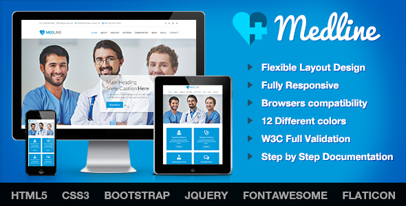 Image of Medline - Medical & Health HTML Template