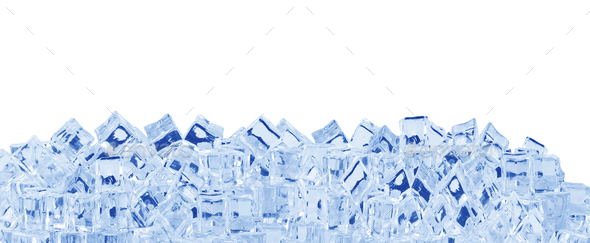 Ice cubes on white - Stock Photo - Images