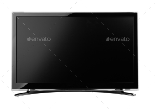 led or lcd internet tv monitor - Stock Photo - Images