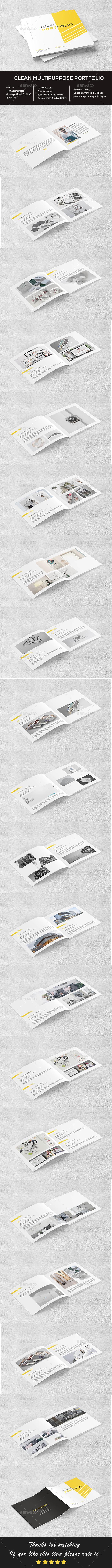 Clean Square Portfolio - Portfolio Brochures