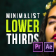 Minimalistic Lower Thirds - VideoHive Item for Sale
