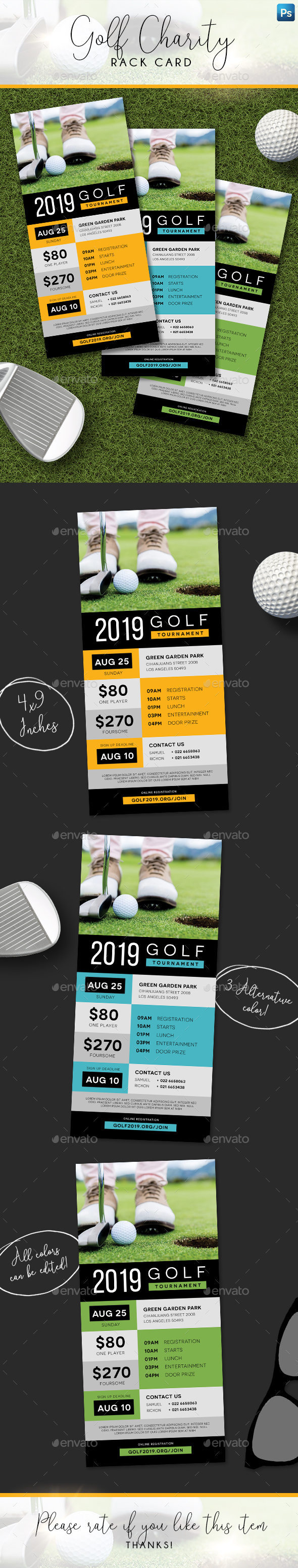 Charity Golf Rack Card - Sports Events