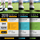 Charity Golf Rack Card - GraphicRiver Item for Sale