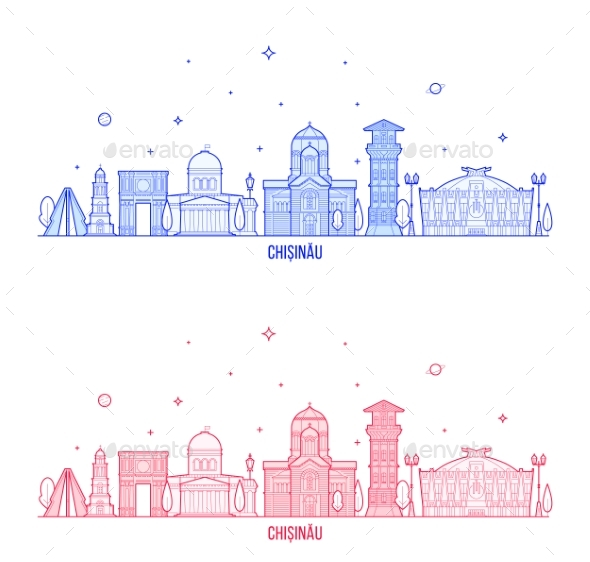 Chisinau Skyline Moldova City Buildings Vector - Buildings Objects