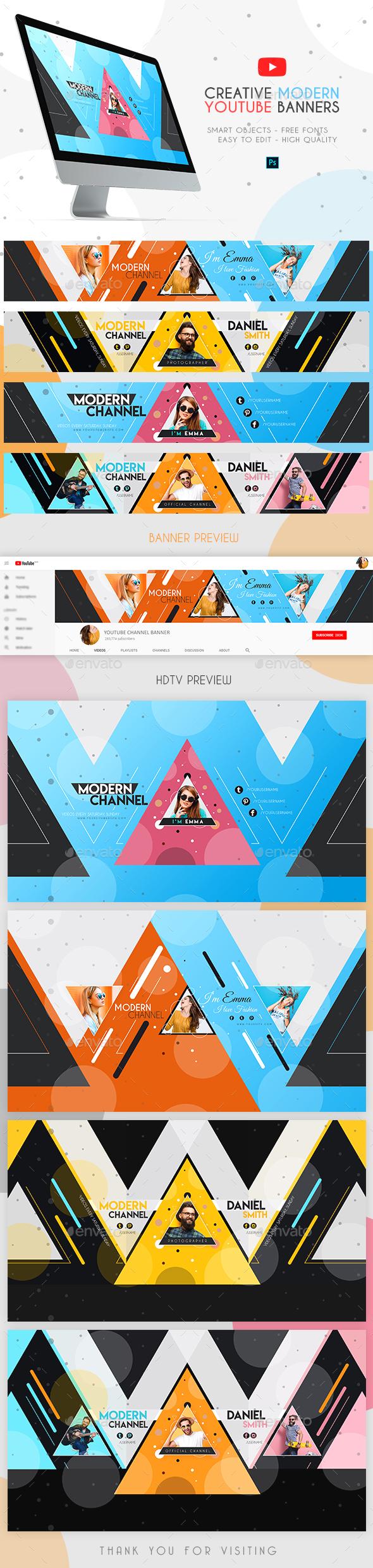 Modern YouTube Banners - YouTube Social Media
