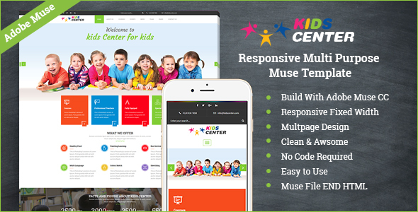 Kidcenter - Responsive Multipurpose Muse Template