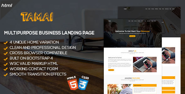 Image of Tamai - Multipurpose Business Landing Page Template