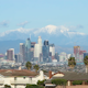 Los Angeles with Snow Covered Mountains - VideoHive Item for Sale