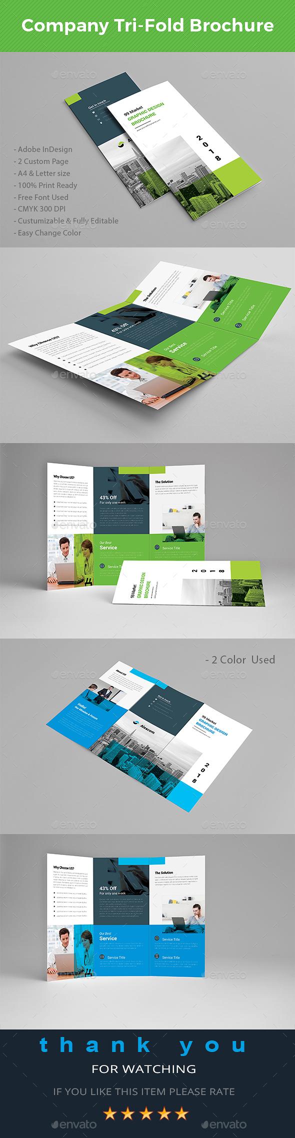 Company Tri-fold Brochure - Brochures Print Templates