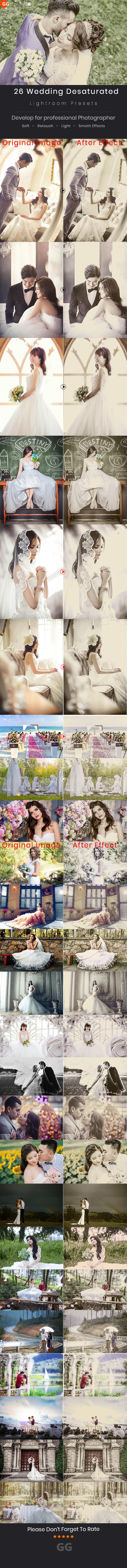 26 Wedding Desaturated Lightroom Preset - Wedding Lightroom Presets