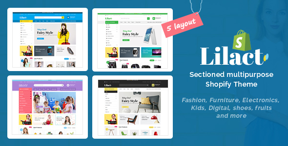 Lilac - Drag & Drop Sectioned Fashion Store Shopify Theme - Shopping Shopify