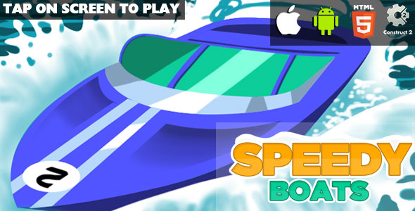 Speedy Boats - HTML5 Game (CAPX) - CodeCanyon Item for Sale