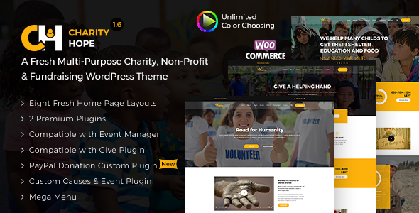 Image of Charity Hope - Non-Profit & Fundraising WordPress Charity Theme
