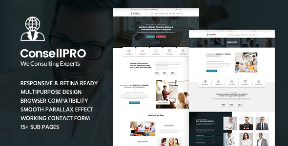 Concell pro - Business Consulting and Professional Services HTML Template