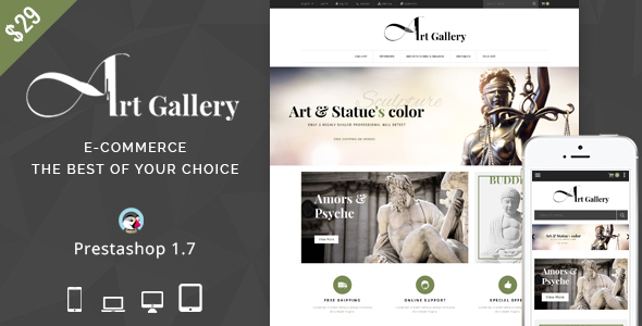 Image of Art Gallery - Prestashop Theme