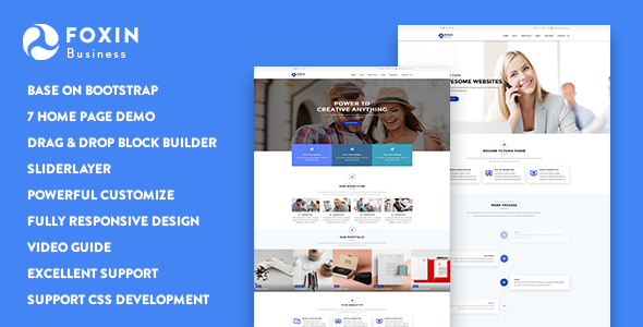 Foxin - Responsive Business Drupal 8.5 Theme
