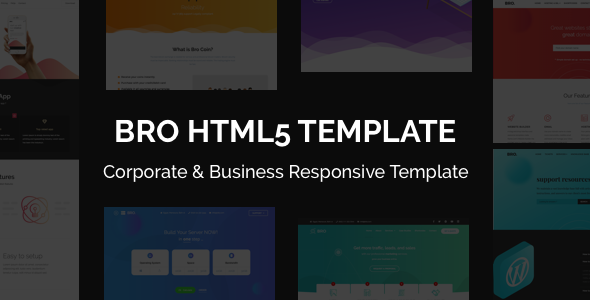 BRO - Corporate & Business Responsive Template - Corporate Site Templates