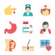 150+ Health and Medical Color Vector Illustration Icons Pack