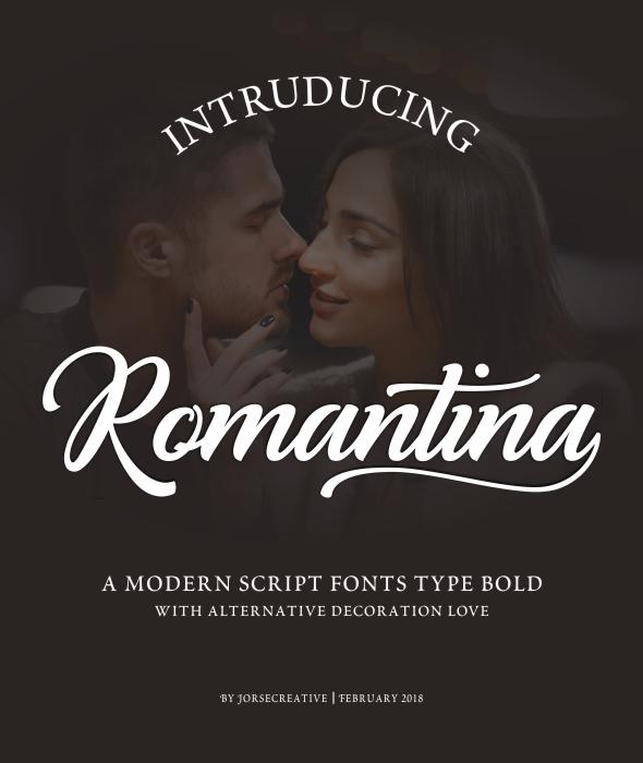 Romantina Font Script - Script Fonts