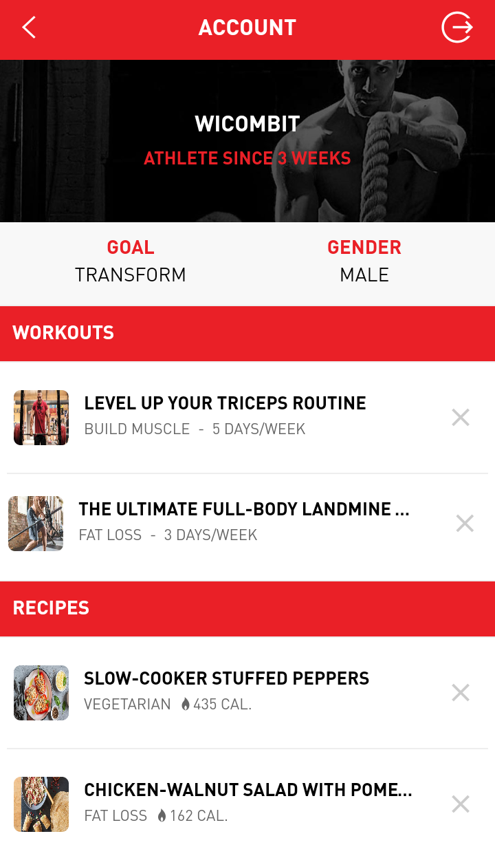 CrossFit - Full Fitness App - Ionic 1