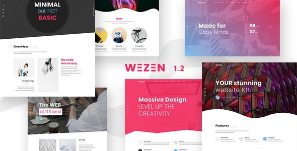 Image of Wezen - Creative Portfolio WordPress Theme