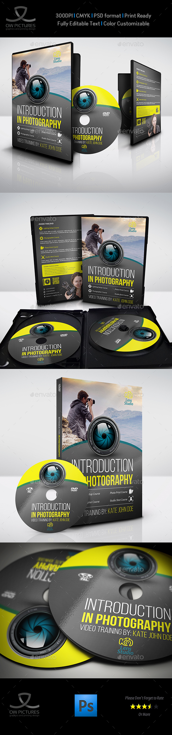 Photography Training Course DVD Template - CD & DVD Artwork Print Templates